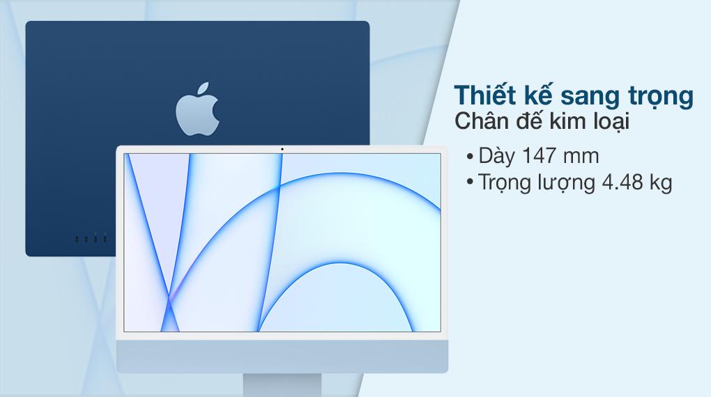 iMac 24 inch 2021 4.5K M1 8GPU (MGPL3SA/A) Blue - Thiết kế