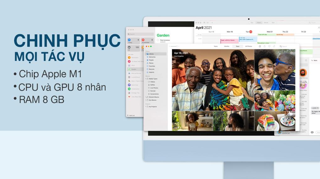 iMac 24 inch 2021 4.5K M1 8GPU (MGPL3SA/A) Blue - Cấu hình