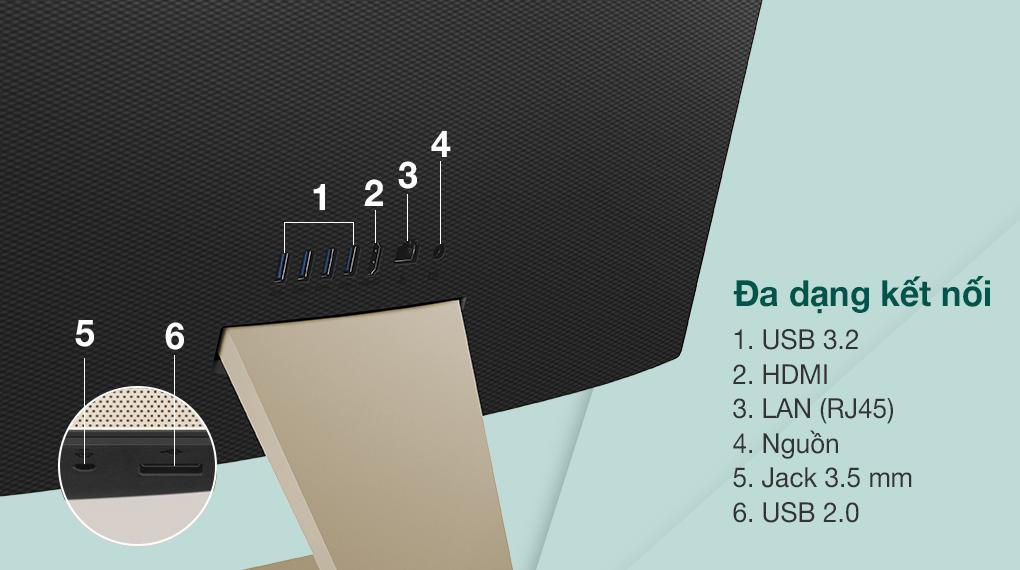 Asus Vivo AIO V222FAK i5 10210U/8GB/512GB (BA220T) - Cổng kết nối