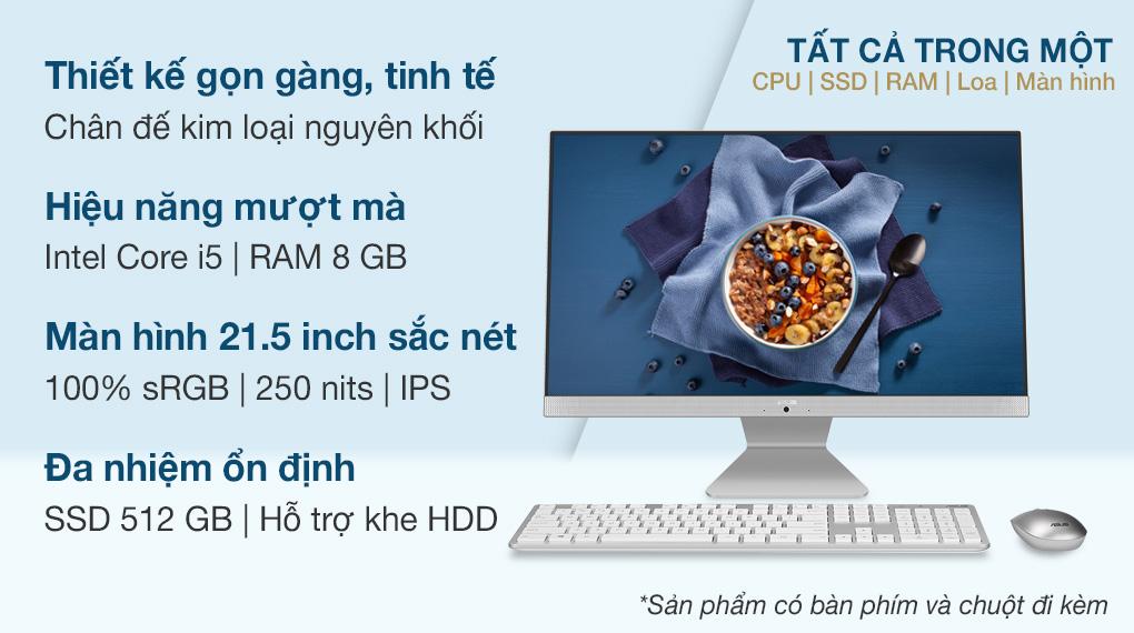 Asus Vivo AIO V222FAK i5 10210U 21.5 inch (WA149T)