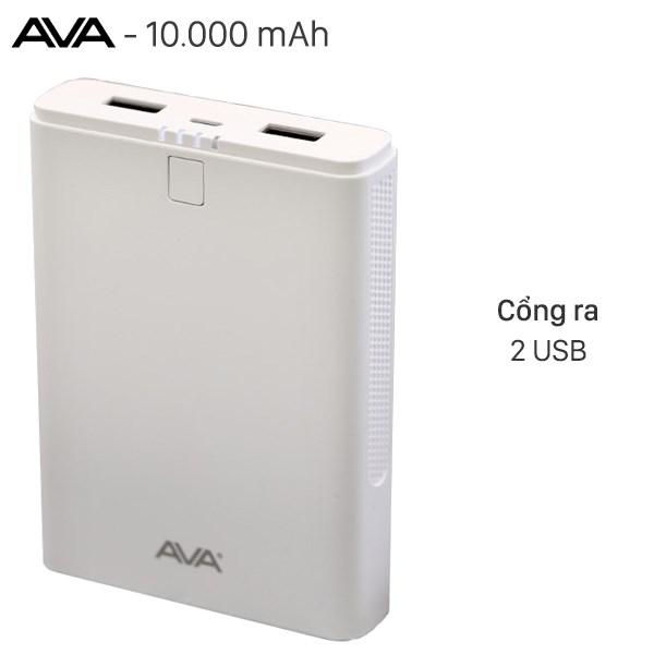 Pin sạc dự phòng 10.000 mAh AVA DS421-WB Trắng
