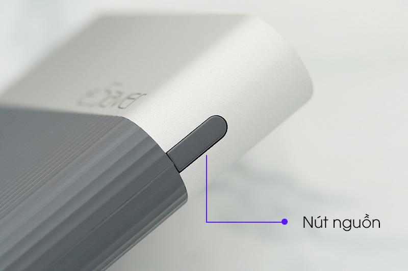 Nút bấm của pin sạc dự phòng Polymer 10.000 mAh Lightning eSaver PJ JP188 Xám