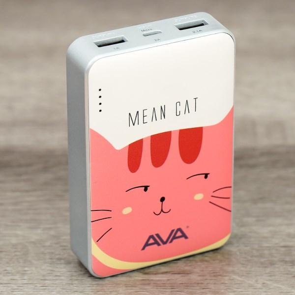 Pin sạc dự phòng 7.500 mAh AVA Cat 3S Cam Trắng