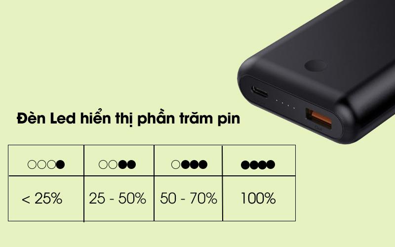 Pin sạc dự phòng 10.050 mAh Type-C PD QC3.0 Aukey PB-XD10 Đen cò đèn Led tiện ích