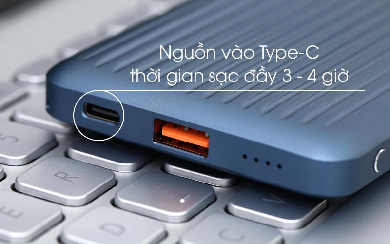 Pin sạc dự phòng Polymer 10.000 mAh Type C PD QC3.0 iWALK UBC10000PS xanh có thời gian sạc lại nhanh