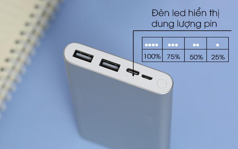 Có đèn LED tiện lợi - Pin sạc dự phòng Polymer 10.000mAh Xiaomi Mi 18W Fast Charge Power Bank 3
