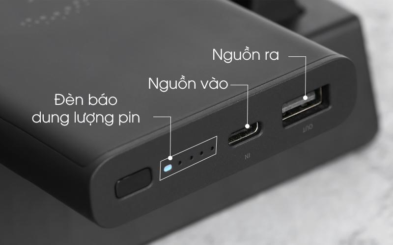 Sử dụng cổng vào USB - C - Pin sạc dự phòng Polymer 10.000mAh không dây Type C Xiaomi Mi Essential