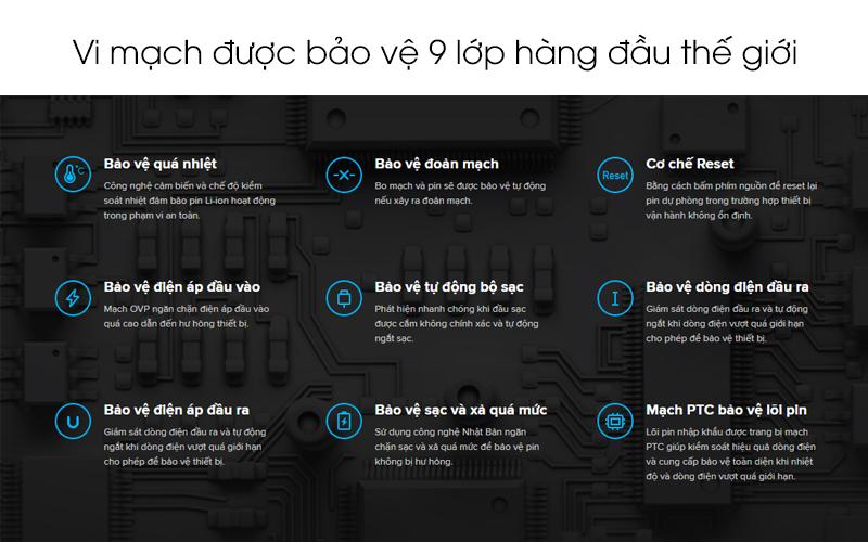 Vi mạch được bảo vệ 9 lớp an toàn - Pin sạc dự phòng Polymer 10.000mAh không dây Type C Xiaomi Mi Essential
