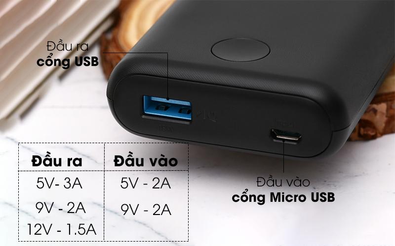 Sạc nhanh cho pin và thiết bị sạc - Pin sạc dự phòng 10.000mAh PowerIQ 2.0 Anker PowerCore II A1230 Đen