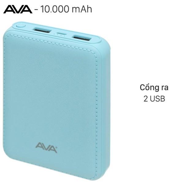 Pin sạc dự phòng 10.000mAh AVA DS003-WB Xanh