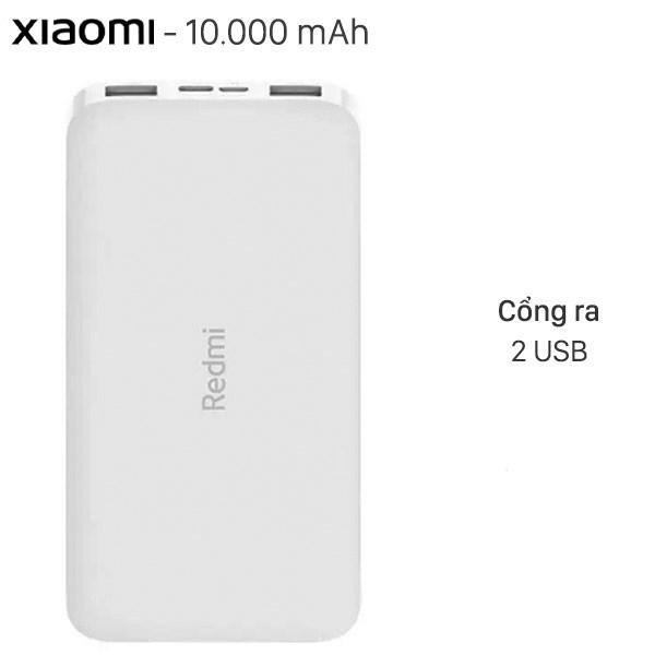 Pin sạc dự phòng Polymer 10.000mAh Xiaomi Redmi Type C VXN4286GL Trắng