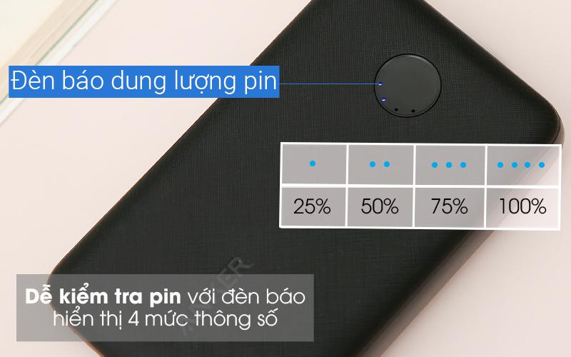 Pin sạc dự phòng 10.000mAh Anker PowerCore Select A1223 Đen - Có đèn báo dung lượng pin 4 mức