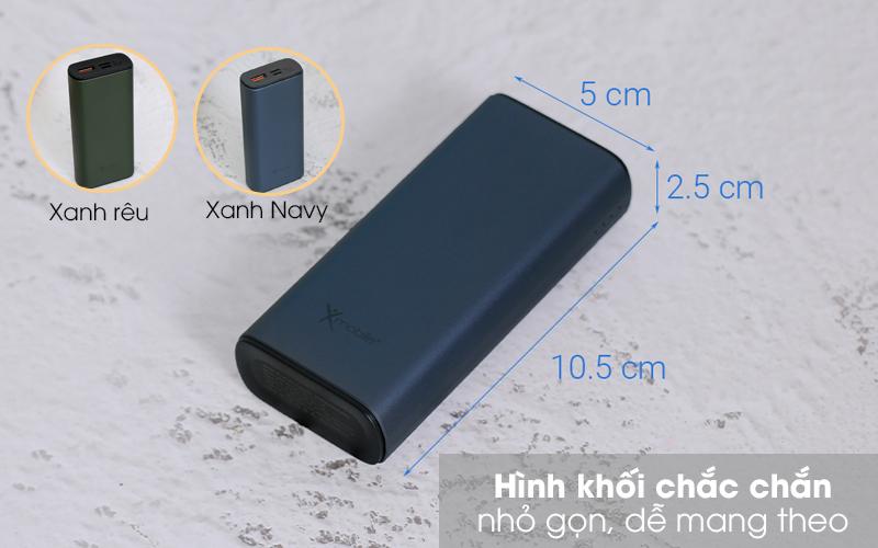 Pin sạc dự phòng Polymer 10.000mAh Type C PD QC3.0 Xmobile PowerSlim PJ JP213 - Hình khối chữ nhật nhỏ gọn
