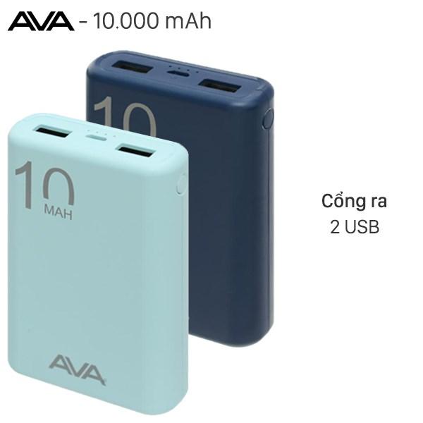 Pin sạc dự phòng Polymer 10.000mAh AVA PJ JP191S