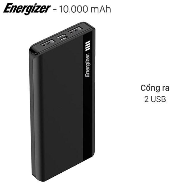 Pin sạc dự phòng Polymer 10.000mAh Type C Energizer UE10054BK Đen