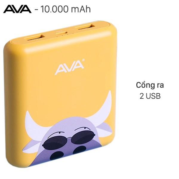 Pin sạc dự phòng 10.000mAh AVA LA Y65 Con Trâu Vàng