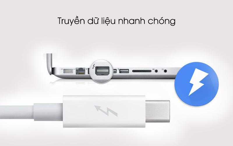 Tốc độ truyền tải dữ liệu nhanh - Cáp Thunderbolt 2 m Apple MD861 Trắng