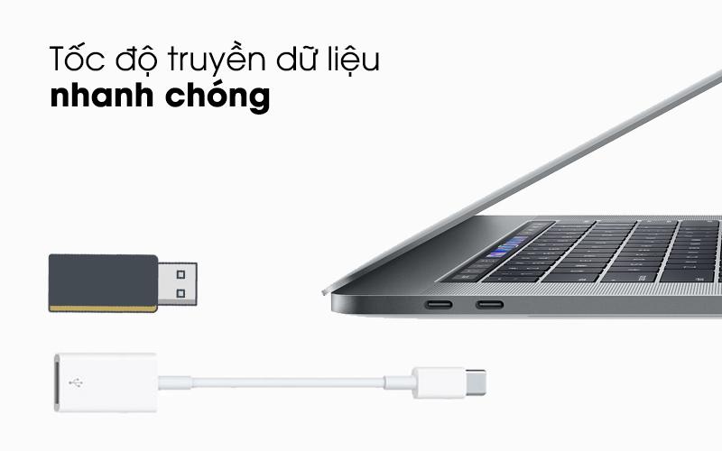 Tốc độ truyền dữ liệu nhanh chóng - Adapter Type-C sang USB Apple MJ1M2 Trắng