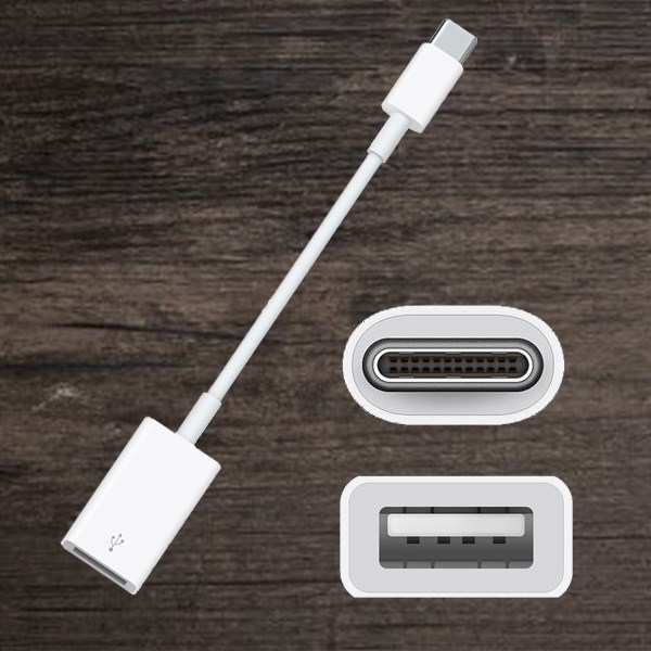 Adapter Type C sang USB Apple MJ1M2 Trắng