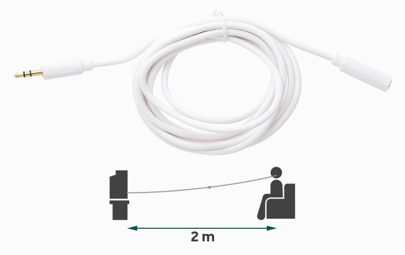 Cable - ខ្សែកាប 3.5mm 2m Pisen YP04