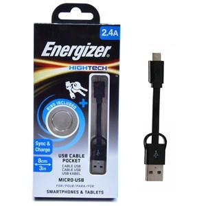 Cáp micro USB 8 cm Energizer C21UBMCABK4 màu đen