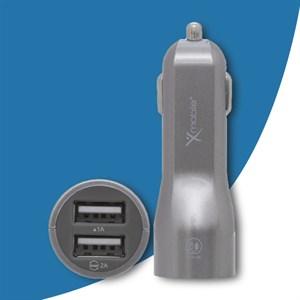 Sạc xe hơi Xmobile Dual USB TS-C063S Xám