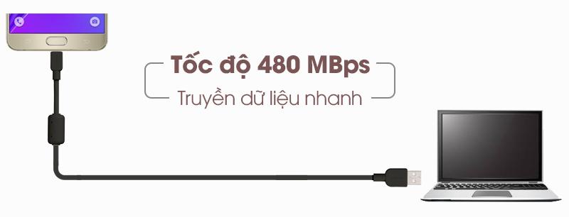 Dây cáp chính hãng của Sony MicroUSB CP-AB150 - Truyền dữ liệu