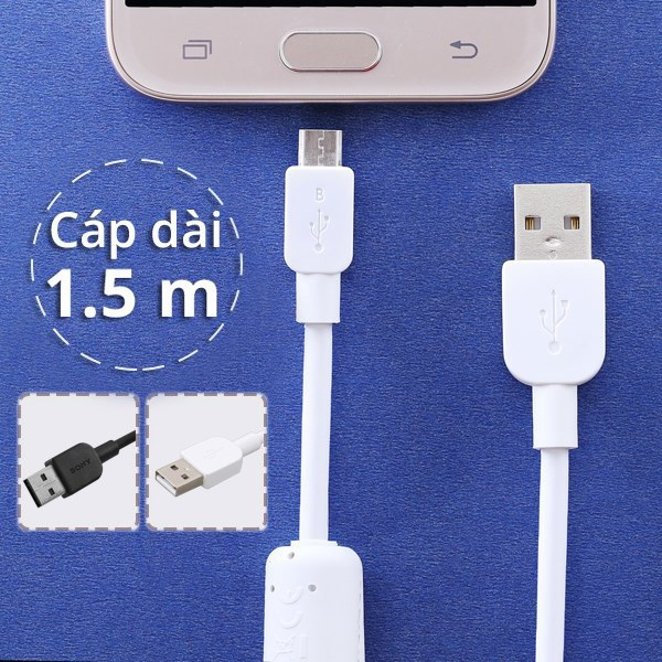 Dây cáp Micro USB 1.5 m Sony CP-AB150 1.5 m