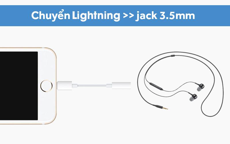 Cáp chuyển đổi Lightning sang 3.5mm Apple chuyển đổi tiện lợi