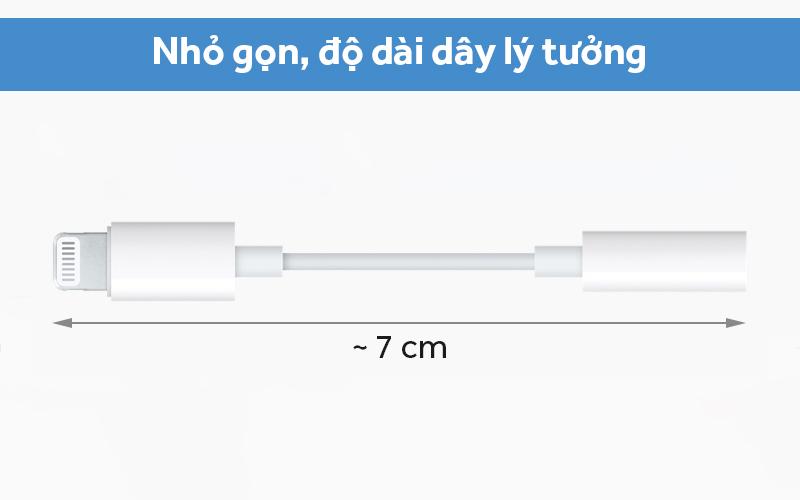 Cáp chuyển đổi Lightning sang 3.5mm Apple MMX62 thiết kế nhỏ gọn