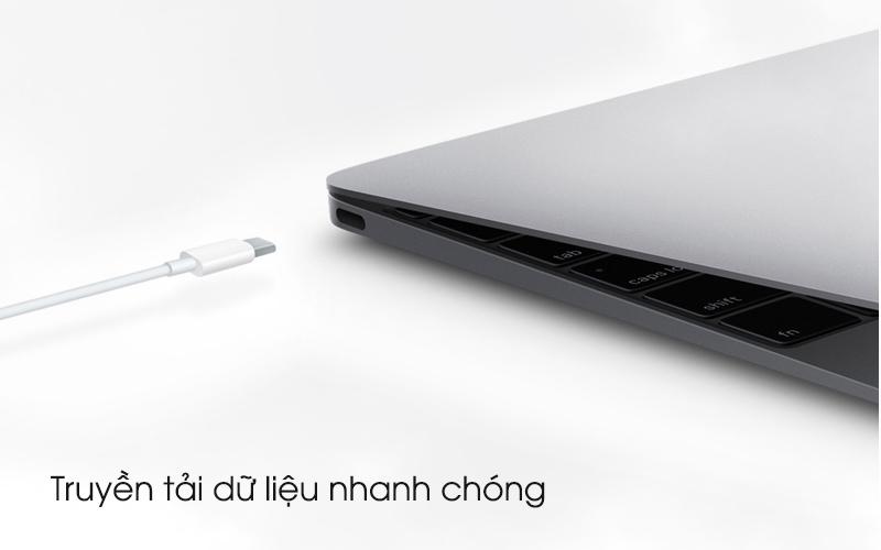 Truyền tải dữ liệu nhanh chóng - Cáp Type C - Lightning 1m Apple MQGJ2 Trắng