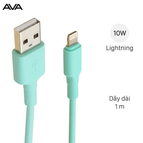 Cáp Lightning 1 m AVA LTPL-01 Xanh