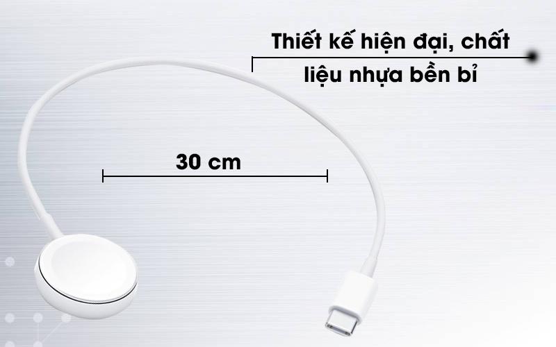 Adapter sạc Apple Watch Magnetic Type-C 30 cm Apple MU9K2 Trắng có thiết kế hiện đại