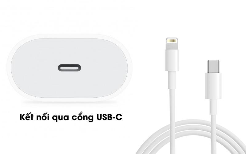 Adapter Sạc Type C 18W dùng cho iPhone/iPad Apple MU7V2 Trắng sạc qua cáp usb type C