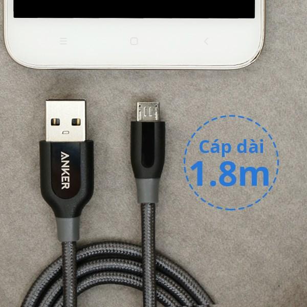 Cáp Micro USB 1m8 Anker A8143 Xám