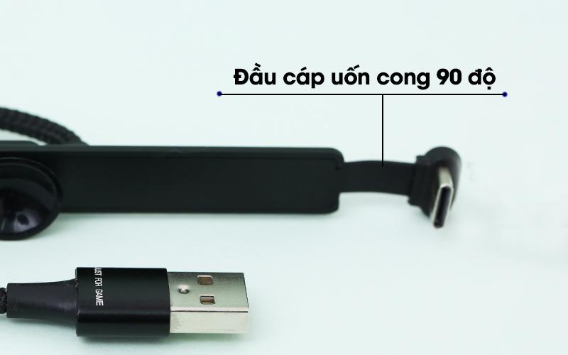 Cáp Type-C 1 m iWALK CSC003 Đen với đầu cáp có thể uốn cong
