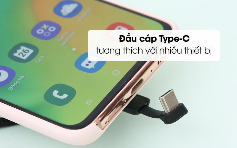 Cáp Type-C 1 m iWALK CSC003 Đen có cổng kết nối Type-C