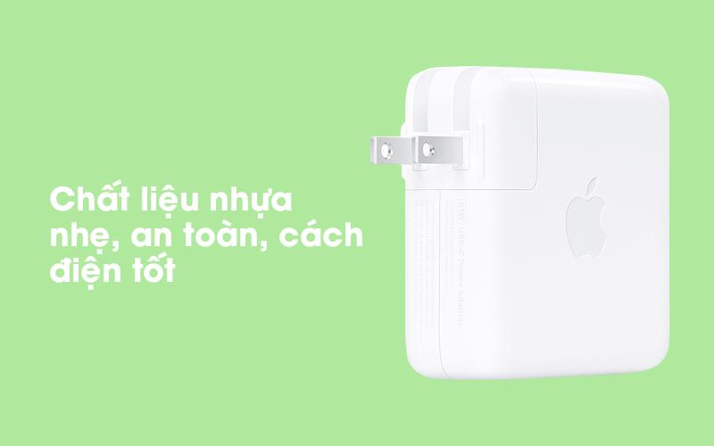 Adapter Sạc Type-C 61W dùng cho iPad/MacBook Apple MRW22 Trắng có chất liệu nhựa bền bỉ