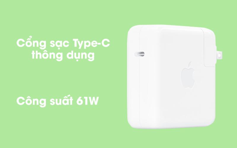 Adapter Sạc Type C 61W dùng cho iPad/Macbook Apple MRW22 Trắng có cổng sạc Type-C