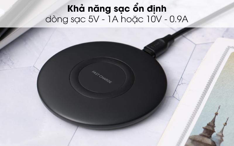 Sạc không dây 9W Qi Type C Samsung EP-P1100 đen sạc thiết bị ổn định