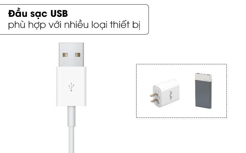Đầu sạc USB thông dụng - Cáp sạc Apple Watch Magnetic 1m Apple MX2E2 Trắng