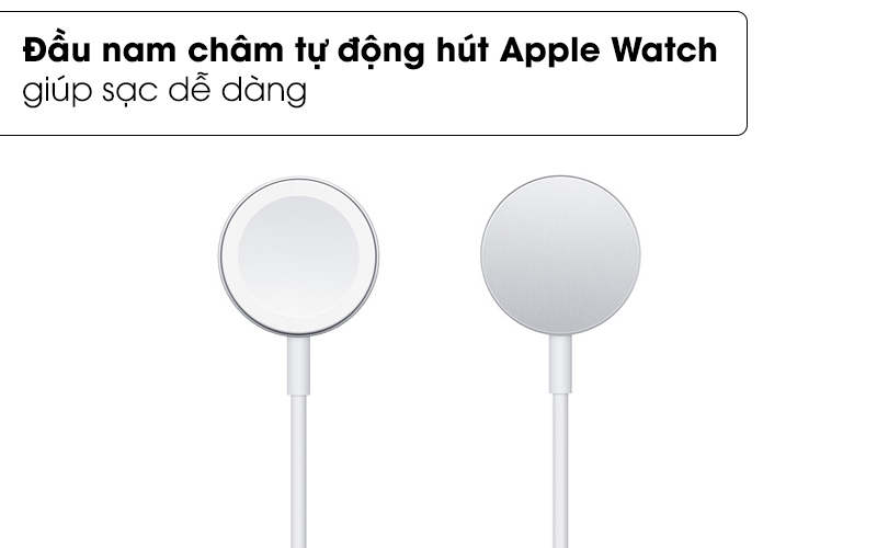 Đầu nam châm tự động hút Apple Watch - Cáp sạc Apple Watch Magnetic 0.3m Apple MX2G2 Trắng