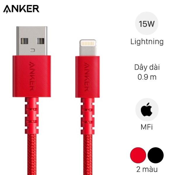 Cáp Lightning MFI 0.9m Anker Select+ A8012