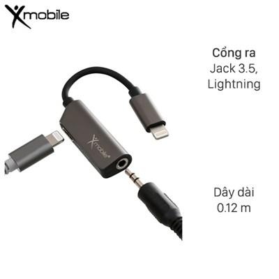 Cáp chuyển đổi 2 cổng lightning - 3.5mm Âm Xmobile TS-E123