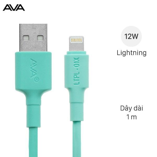 Cáp Lightning 1m AVA LTPL-01X Xanh