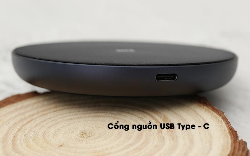 Đế sạc không dây Qi 10W Xiaomi GDS4142GL Đen - USB Type - C
