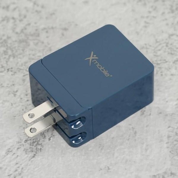 Adapter Sạc 2 cổng USB 2.4A Type C 3A Xmobile DS165-NB Xanh Navy