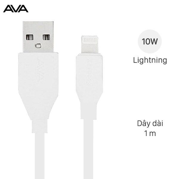 Cáp Lightning 1m AVA Speed II X Trắng