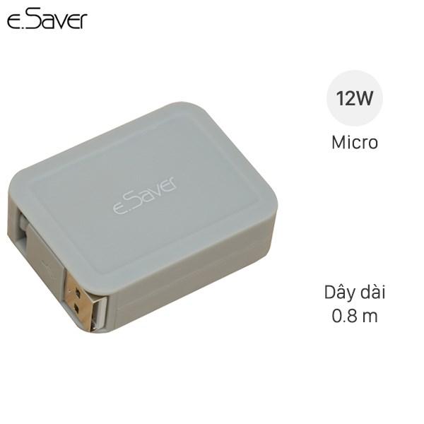 Cáp Micro USB dây rút e.Saver DS021-TB