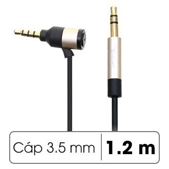 Dây cáp âm thanh 3.5 mm 1.2 m Xmobile DS036TB
